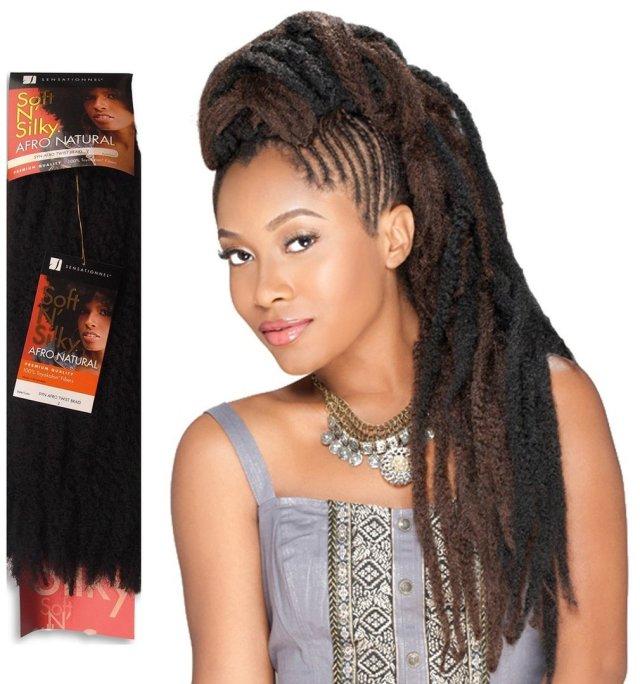 sensationnel soft n´silky synthetic afro twist braid
