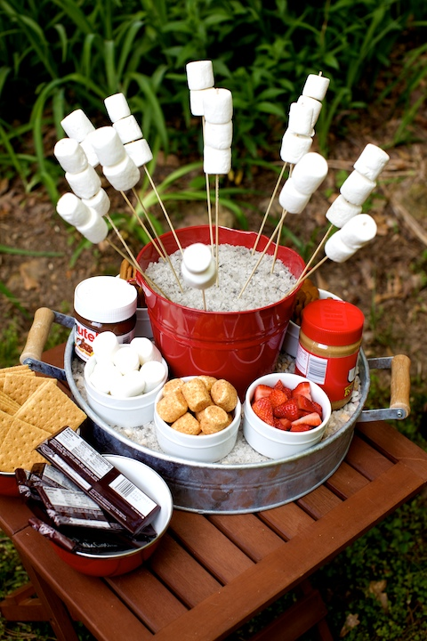 Martie Knows Parties: Outdoor Smores Bar