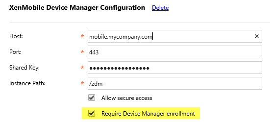 Require Device Manager enrollment