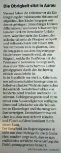 Die Obrigkeit sitzt in Aarau