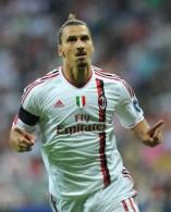 AC Milan's Swedish striker Zlatan Ibrahi