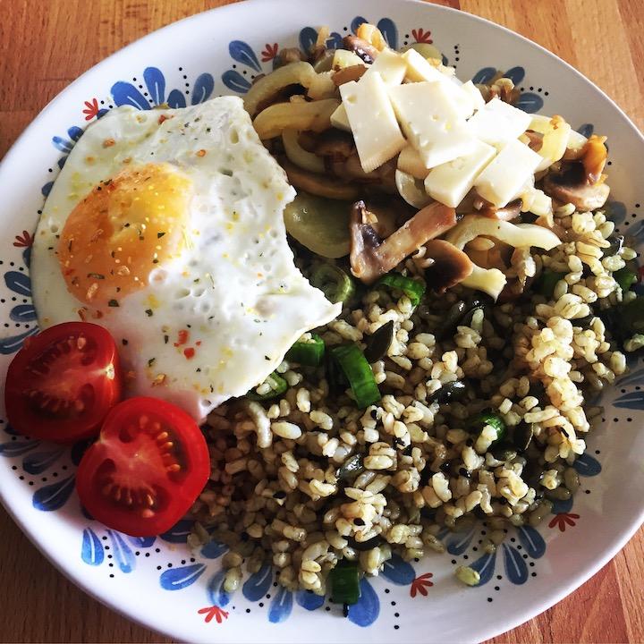 Vegetariánske rizoto s hríbikovou prílohou