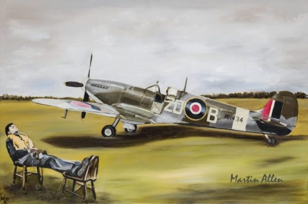 Spitfire MH434 Goodwood fine art painting and limited edition A2 prints