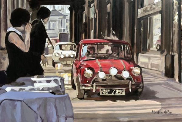 Mini Cooper Italian Job art