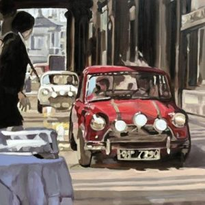 Mini Cooper Italian Job art