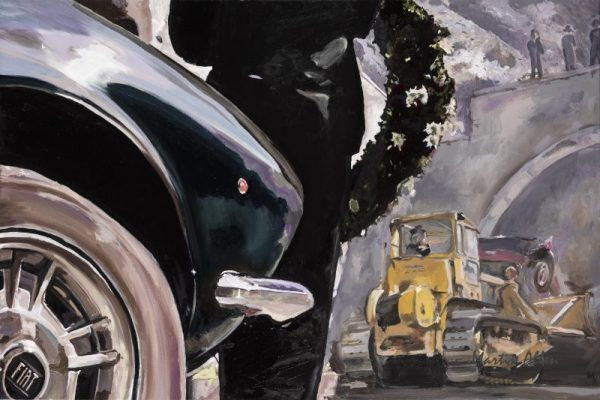 The Italian Job Great Car Art - The End of the Road