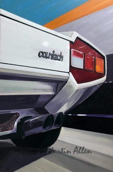 Lamborghini Countach car art