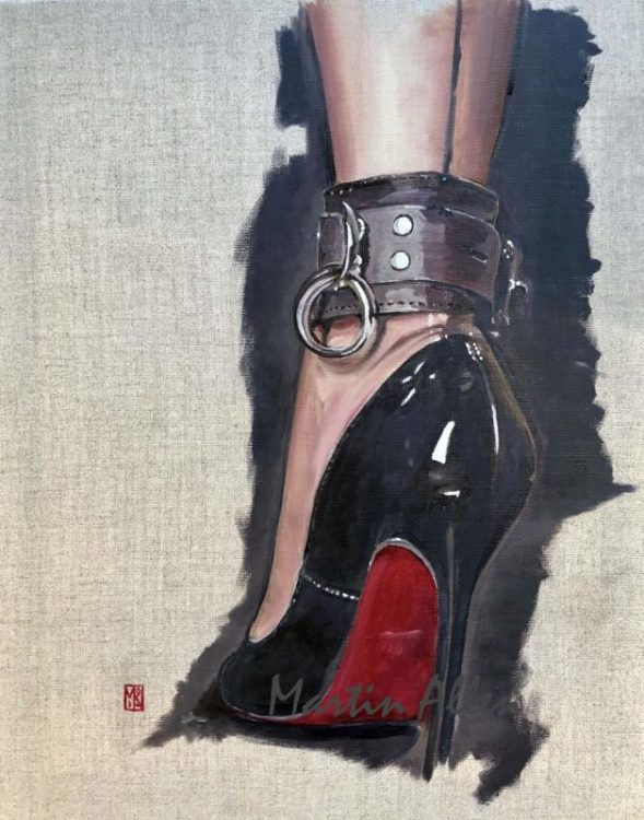 In these shoes Sexy bdsm christian louboutin shoe