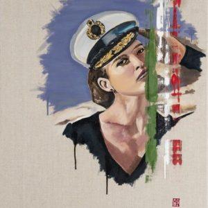 Ahoy There oil on linen portrait by artist Martin Allen