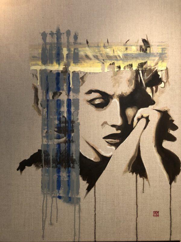 marilyn monroe fine art painting by emerging london artist martin allen