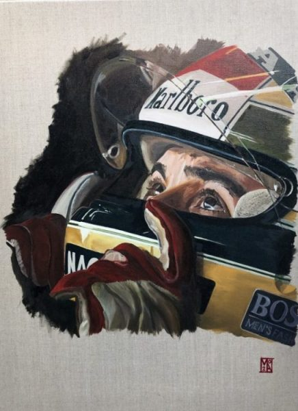Ayrton Senna - painting and ltd edition motor car fine art prints