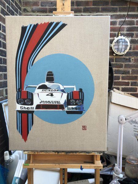 Martini Racing Art Porcshe 936 by artist Martin Allen