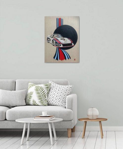 Vintage Le Mans Martini Team Racing Porsche Car Classic Old Original Ad Advert Nostalgia Retro Man Cave Gift Poster Print
