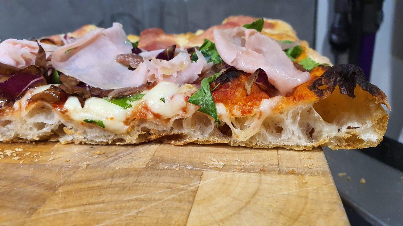 pizza lunga lievitazione con autolisi