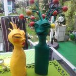 Pappmache Figuren inspiriert durch ´Galaktischem Paar´ von Martina Reis