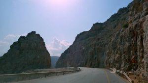 Serpentine roads in Oman