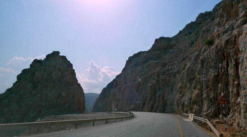 Serpentine roads in Oman