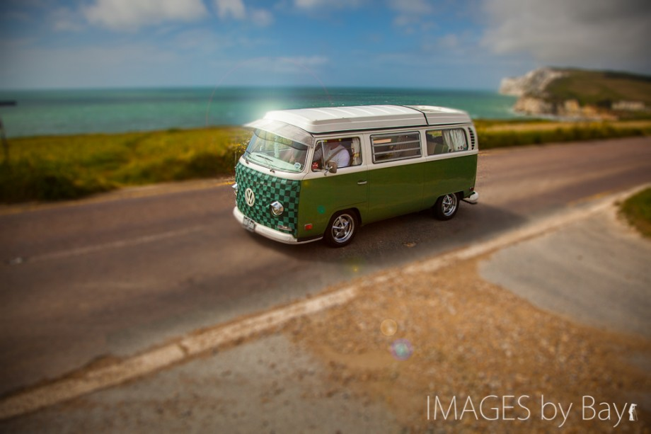 Image of green VW campervan