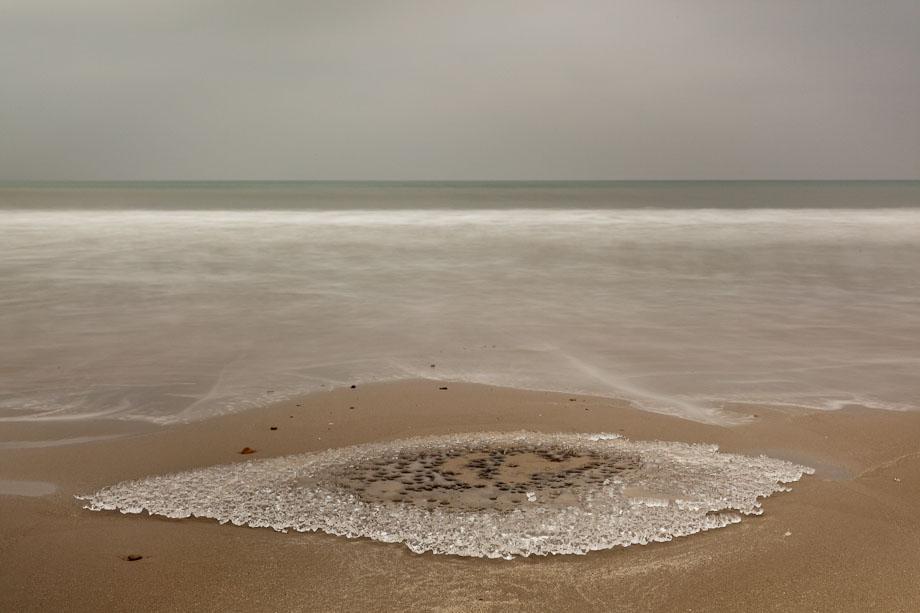 Image of Ice on sande beach