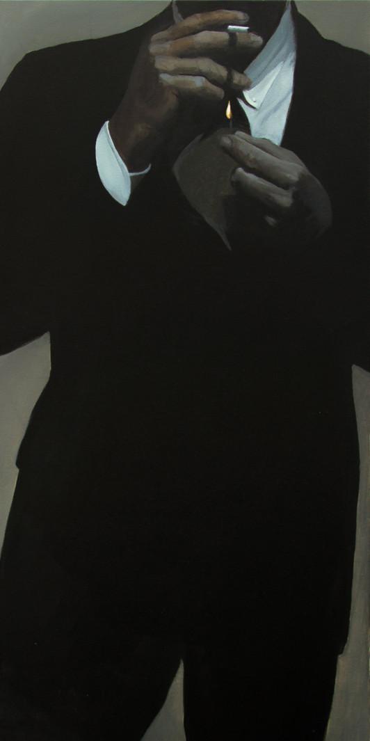 Martin Bruinsma Suit Painting Burn
