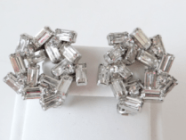 Weiss clear rhinestone earrings photo