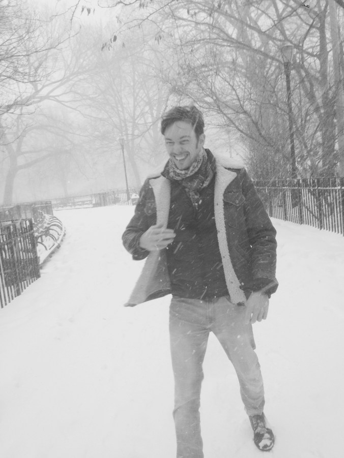 Dan in a New York Snow Storm