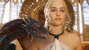 Daenerys Targaryen with Dragon Emilia Clarke ¿Muere Daenerys Targaryen en el último capítulo de Juego de Tronos?