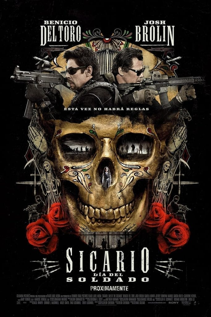 """Poster for the movie """"Sicario: Día del soldado"""""""