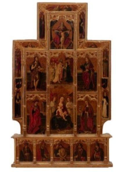 1602171455 Retablo de la Virgen de la Leche Torres García, Raimundo Madrazo o Joaquín Sorolla se reúnen en Setdart Subastas