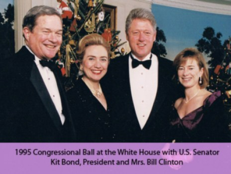 Annie Presley with the Clintons