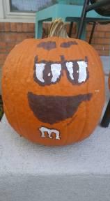 M&M pumpkin
