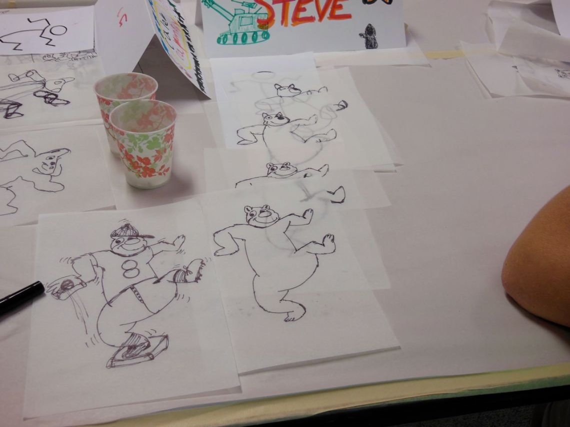 cartoon camp drawing