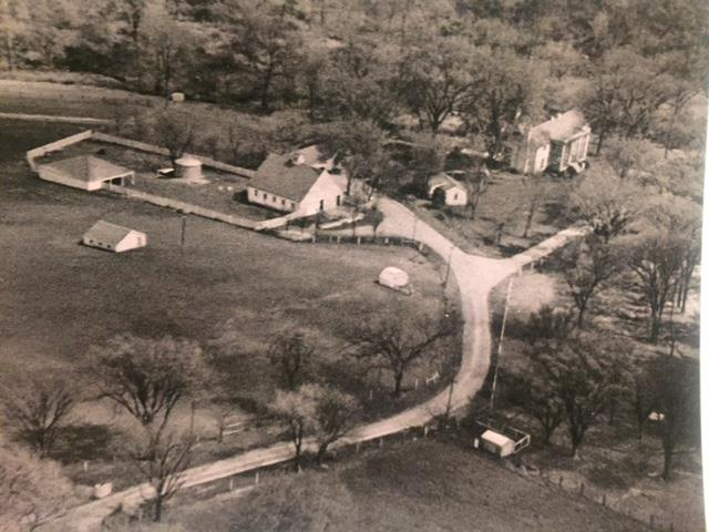 Historic home aerial