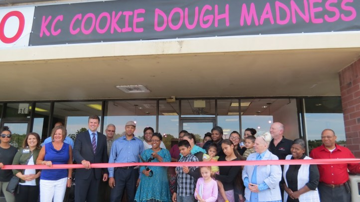 cookie dough ribbon cutting.JPG