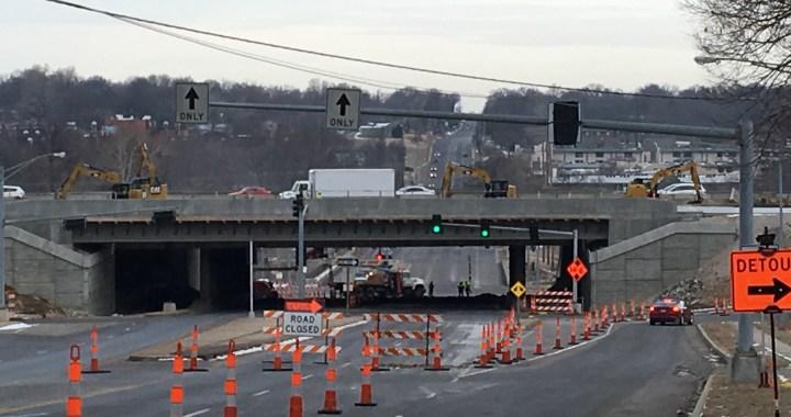 Wornall Rd Bridge demolished, traffic redirected Saturday