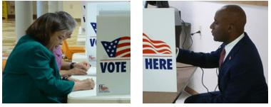 After casting votes, Mayoral candidates wait