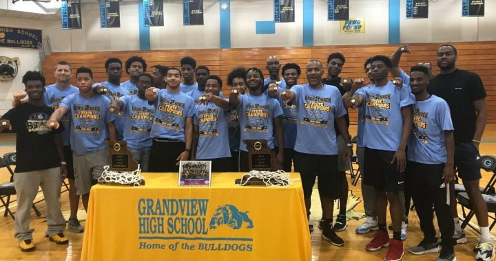 Grandview basketball team celebrates championship rings with NBA star