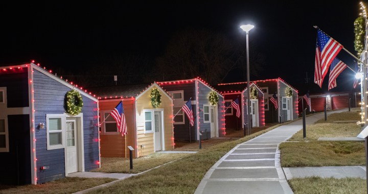 In time for Christmas, Veterans Village celebrates completion of 49 tiny homes