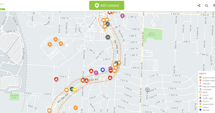 Suggestions needed for improvements along 87th & Blue Ridge Blvd