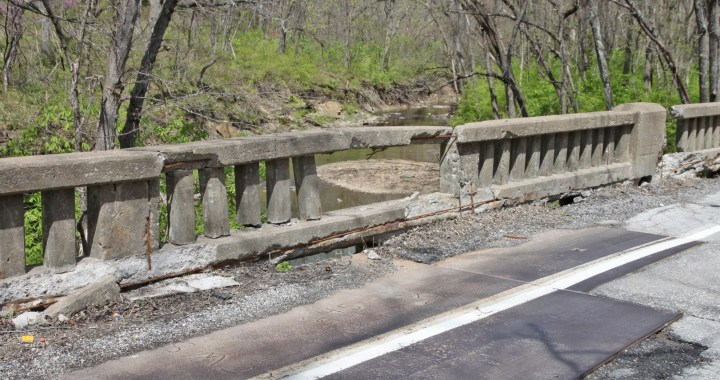 Is this bridge GO Bond worthy? Blue River Rd. and Lumpkins Fork Bridge get no love from the City