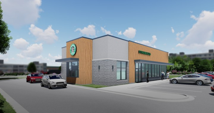 Stand-alone Starbucks coffeehouse being built at 90th & State Line