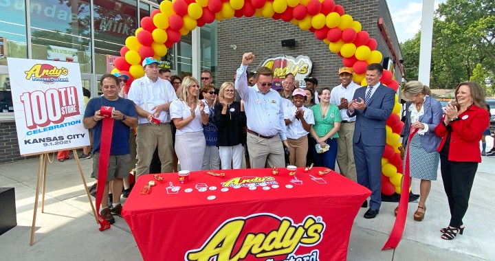Andy's Frozen Custard opens 100th location at 79th & Wornall