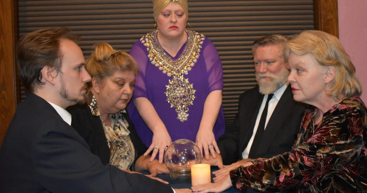 Séance leads to ghostly conversations in Belton's performance of Blithe Spirit