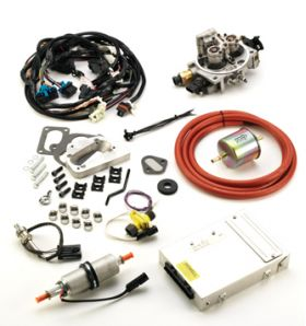 This complete kit includes everything necessary to convert your Jeep Wrangler or Grand Wagoneer from carburetion to throttle Body fuel injection.