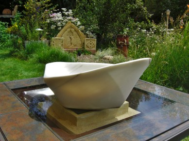 """$2,400 Coracle 22.5x15.5x8.5"""", The Maiden Collection, Colorado Yule Marble Sculpture by Martin Cooney"""