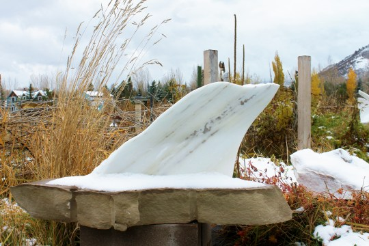 Mabel, Spirit of the Stone, The Maiden Collection, Colorado Yule Marble Sculpture, Garden Workshop Tour, Halloween 2013