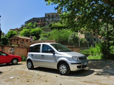 'The Bee' 1, my trusty rented Fiat Panda, in Tuscany