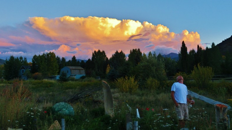Autumn Equinox Sunset Clouds Over Aspen, CO 2014