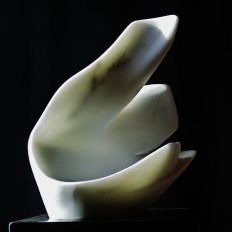 'Curvilinear Campfire' Hand Carved Marble Bowl by MARTIN COONEY