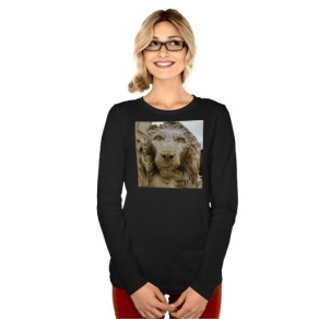 Lion of Massa, The Curious One, Women, Bella Relaxed Fit Long Sleeve T-Shirt